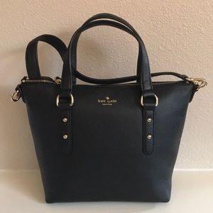 kate spade small penny black satchel crossbody bag